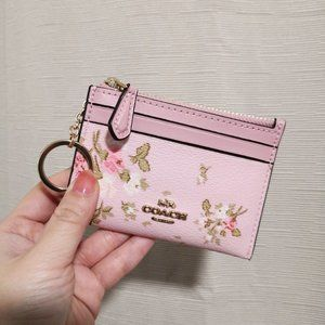 Coach Coin Purse ID Mini Skinny WITH ROSE
